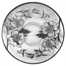 Sterling Silver Overlay Round Server Plate