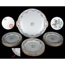 Haviland Floral & Gold 13 Pc. Dessert Set