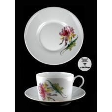 Elite-Limoges Dahlia Flat Cup & Saucer Set