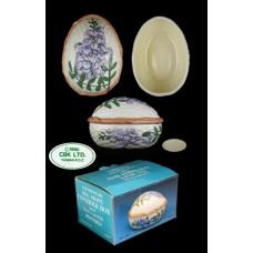 CBK LTD. Egg Shaped Covered Box - Hand Painted