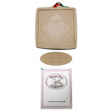Brown Bag Cookie Art Lace Heart Mold