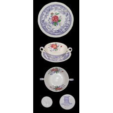 Spode Mayflower Cream Soup Bowl and Saucer Set