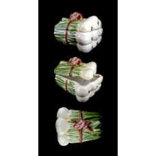 Green Onion/Leeks Bundle Figural Covered Dish
