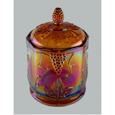 Indiana Glass Harvest Grape Carnival Tobacco Jar