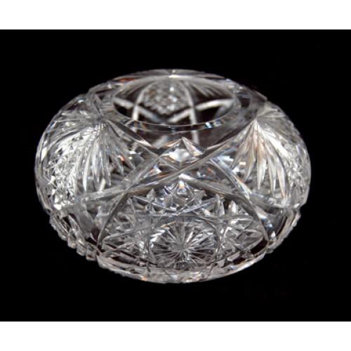 Antique Cut Glass Violet Bowl