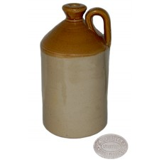 Vintage E. Wright Chesterfield Stoneware Flagon Jug