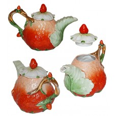 Vintage Strawberry Individual Teapot