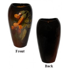 Owens Pottery Vase with Yellow Flowers
