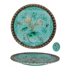 Antique Sarreguemines Majolica Plate
