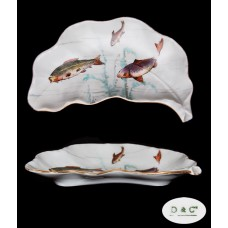 Antique Limoges Fish Bone Dish - D & Co.