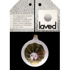 Laved Limited Edition Frosted Ball w/ Face Italy