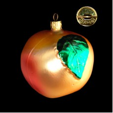 Gold Apple Glass Ornament - Made in West Germany