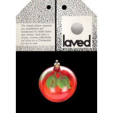 Laved Limited Edition Glass Red Apple - Italy