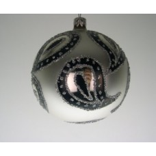 Silver/Black Paisley Holiday Ornament - Poland