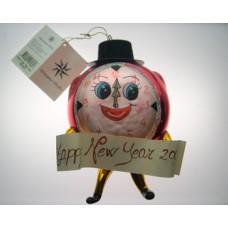 Christopher Radko Happy New Year Clock 2000