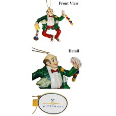 Giftcraft Man Gambling Holiday Ornament