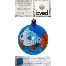 Laved Limited Edition Cobalt Fish Globe - Italy
