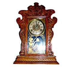 Sessions Pressed Oak Shelf Clock