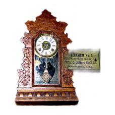 Gilbert Oak Mantel Clock Geranium No. 3