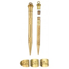 Delaco Gold Filled Lead Pencil with Ribbon Ring