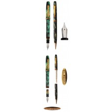 Epenco Green Marbled Fountain Pen and Pencil Set