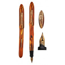 Vintage Nassau Brown Marble Fountain Pen