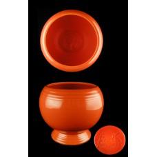 Vintage Fiesta Red Homer Laughlin Marmalade Jar