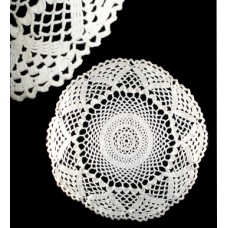 Vintage White Round Crocheted Doiley
