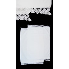 Vintage Linen Tatted Lace Pillowcases