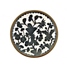 Chinese Cloisonee Small Tray with Floral Motif