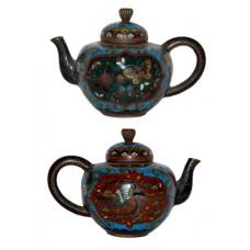 Antique Japanese Cloisonne Miniature Teapot