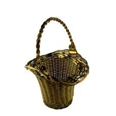 Goldtone Wire Weaved Handled Basket