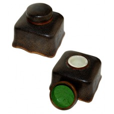 Antique 3-Piece Cloisonne Inkwell