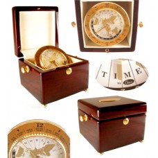 Chass Wooden Lid Chest World Time Clock