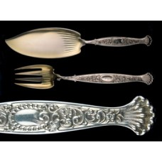 Antique Sterling Silver Hyperion Whiting 2-Piece Fish Serving Set