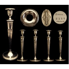 Sterling Silver Set of 4 La Pierre Candlesticks
