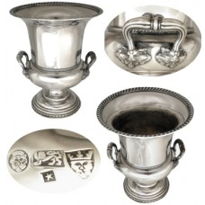 English Silver Wine Cooler