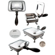 Silver Plate Silent Butler Crumb Pan