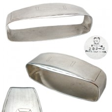 Sterling Silver Meriden Napkin Ring with Cartouche