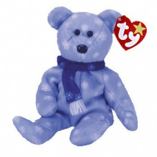 1999 Holiday Teddy - Light Blue with Snowflakes