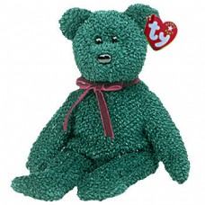 2001 Holiday Teddy Beanie Bear