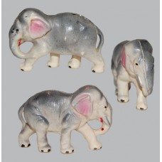 Vintage Celluloid Toy Gray Elephant