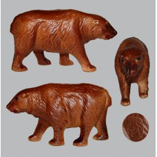 Vintage Celluloid Toy Dark Brown Bear