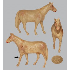 Vintage Celluloid Toy Tan Horse -