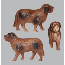 Vintage Celluloid Toy Brown Dog