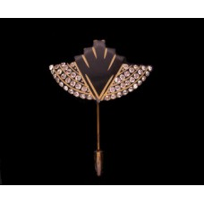 Art Deco Black Hatpin/Hat Ornament