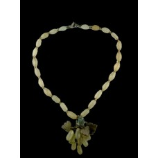 Vintage Two-Tone Jade Necklace w/ Grape Cluster