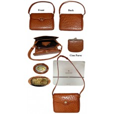 Gucci Ostrich Shoulder Handbag
