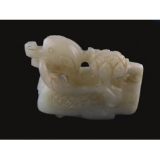 Antique Chinese Carved Celadon Jade