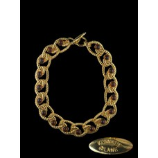 Kenneth Jay Lane Amber Gold Twisted Rope Necklace